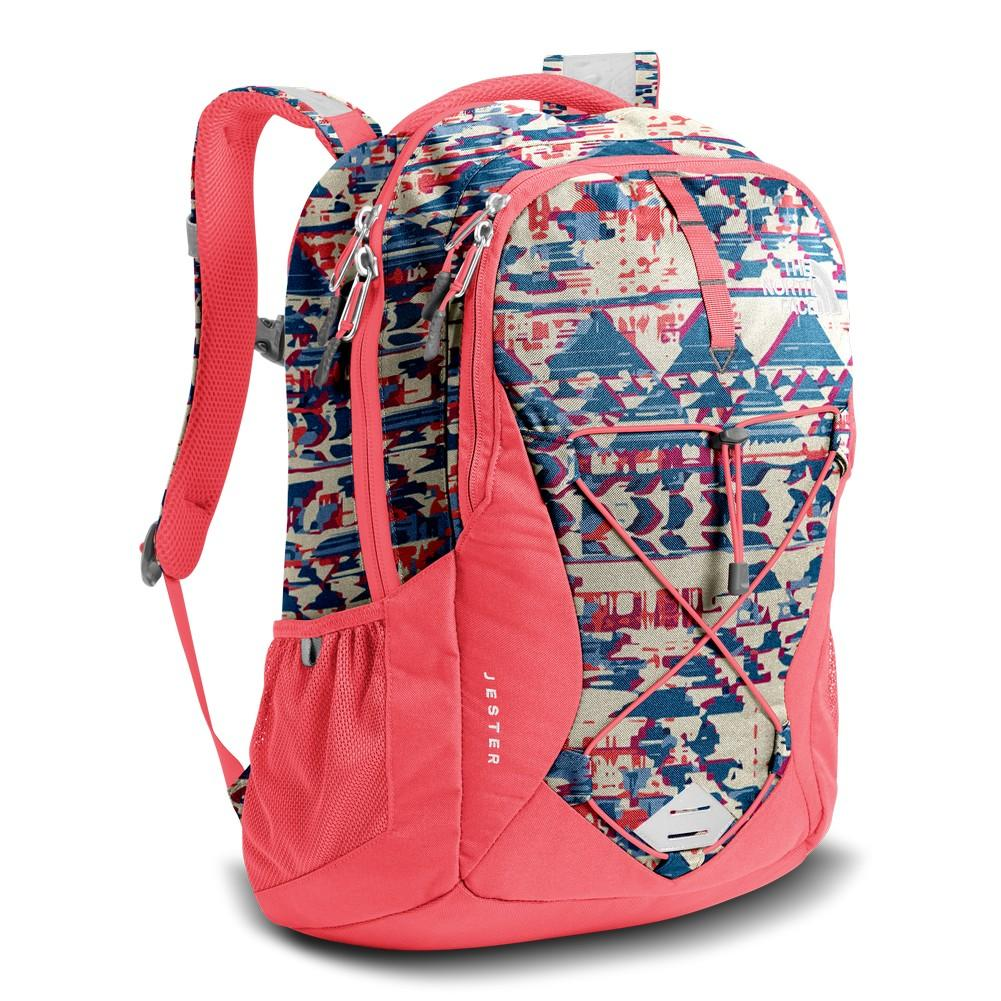 6037252cf The North Face Jester Backpack Women's Vintage Frequencies Print/Calypso  Coral
