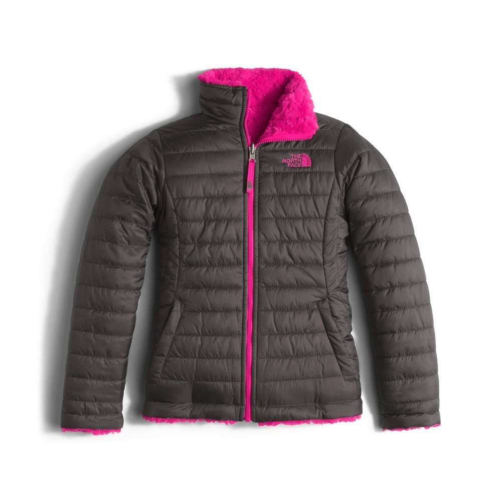 222b0afd23a1 ... Fortuna Blue Scatter Print. The North Face Reversible Mossbud Swirl Jacket  Girls  Graphite Grey Cabaret Pink