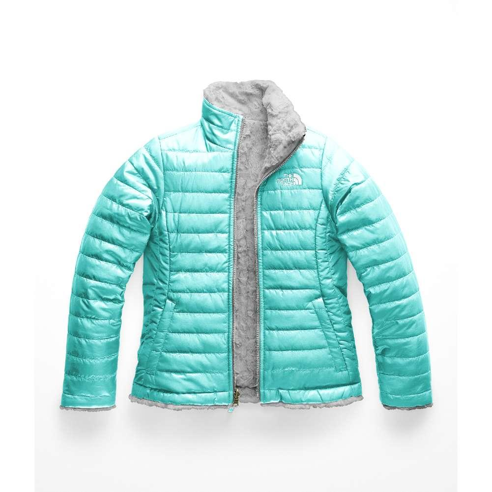 80dc91e1755c The North Face Reversible Mossbud Swirl Jacket Girls  MINT BLUE METALLIC  SILVER ...