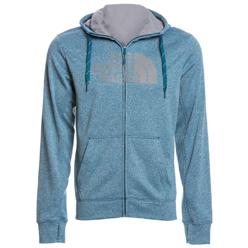43f5debc The North Face Surgent Half Dome Full Zip Hoodie Men's Blue Coral  Heather/Mid Grey