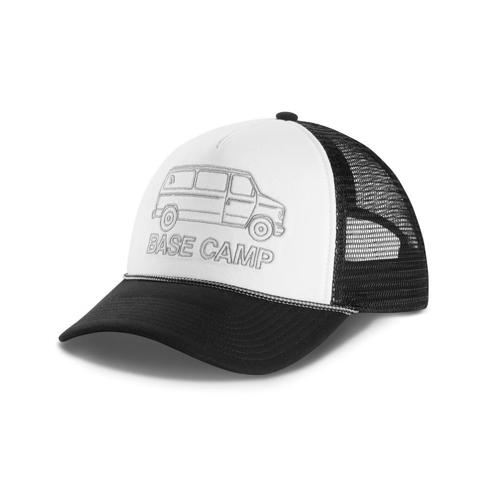 a8eaab330af The North Face Cross Stitch Trucker Hat TNF Black Mid Grey