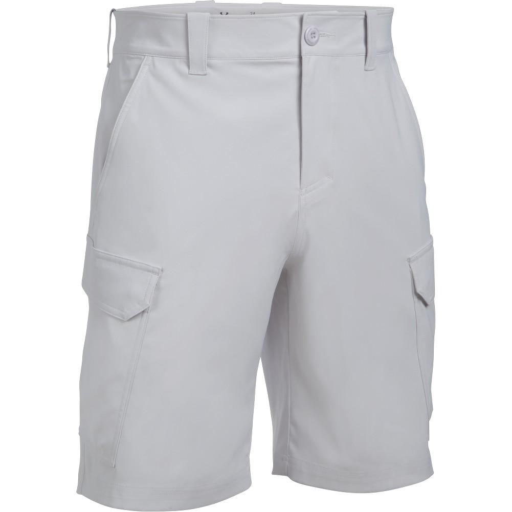 Under Armour Fish Hunter Cargo Shorts Glacier Grey Steel New