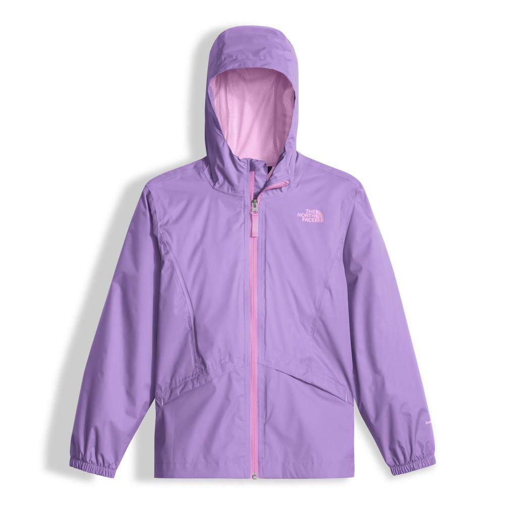 27945e742e67 The North Face Zipline Rain Jacket Girls  Paisley Purple