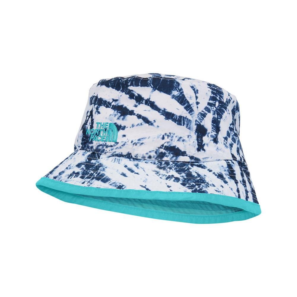622b2f10349d6 The North Face Sun Stash Hat Youth BLUE WING TEAL FERN PRINT BLUE CURACAO  ...