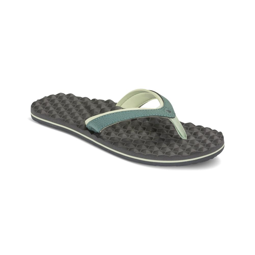 24eda1d2e401ff ... The North Face Base Camp Plus Mini Flip-Flops Women s Trellis  Green Graphite Grey ...