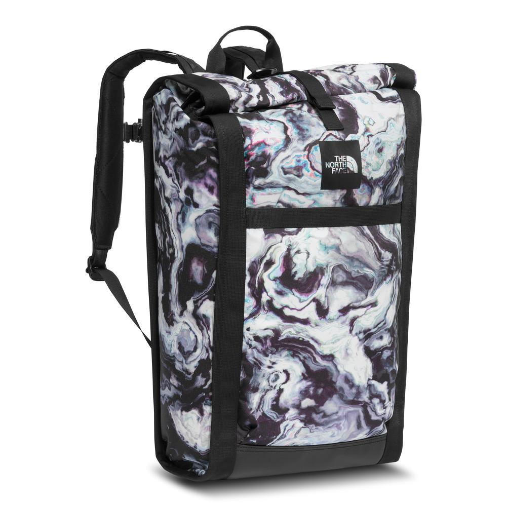98ae53682567 The North Face Homestead Waterproof Pack TNF Black Iridescent Marble Print  TNF Black
