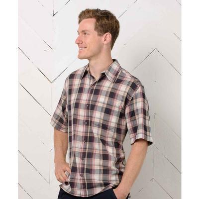 Purnell Lightweight Madras Plaid Short Sleeve Shirt Men's