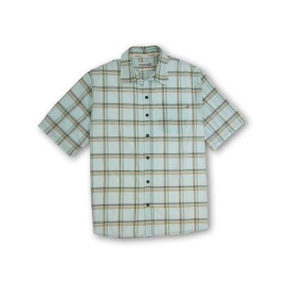 Purnell Light Green Madras Plaid SS Shirt Men's