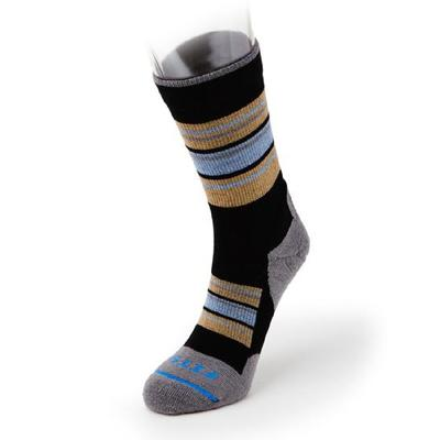 Fits Sock Co.Light Hiker Block Stripe Crew Socks