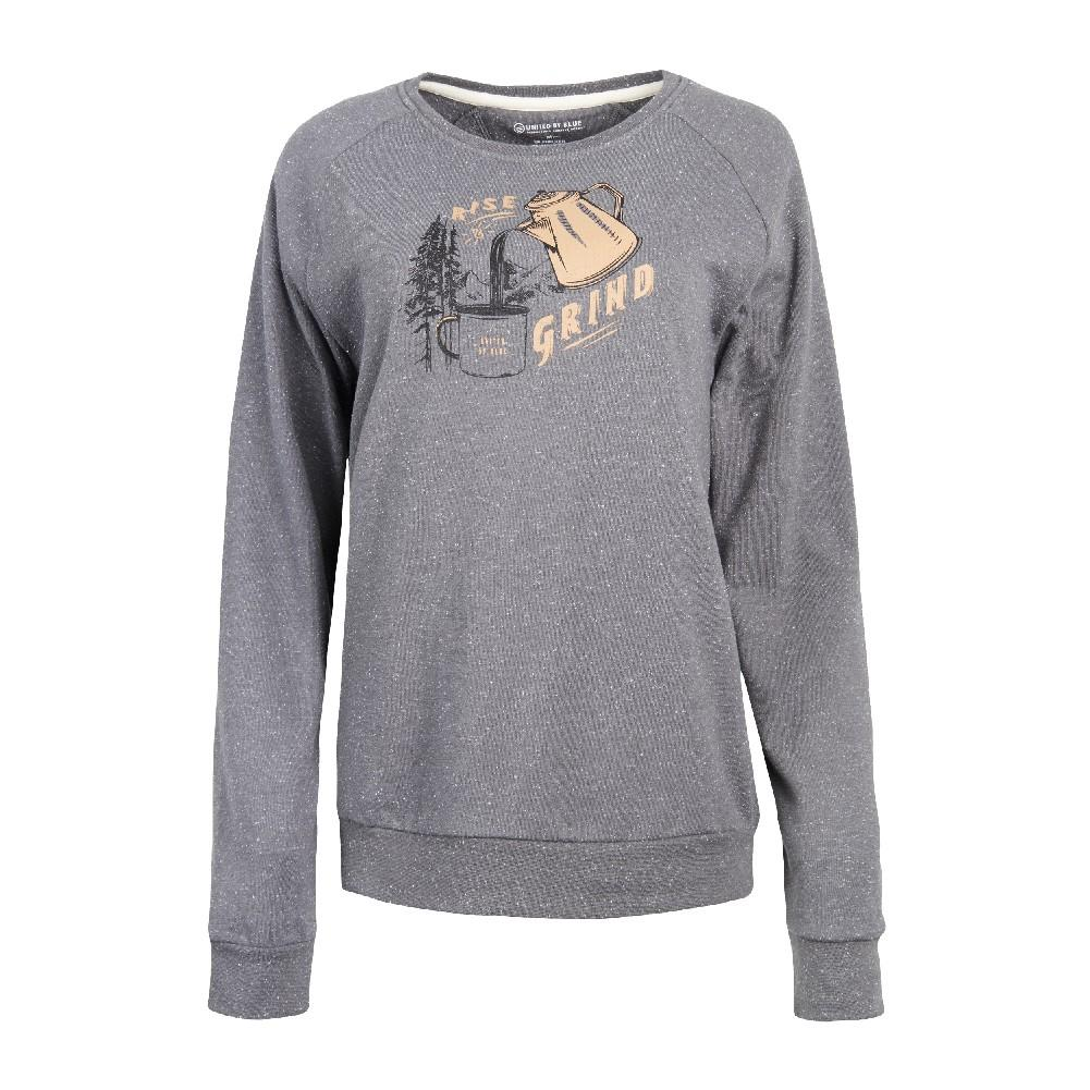 2a2235b51ed5 United By Blue Rise and Grind Crew Pull Over Sweatshirt Women's STEEL GREY