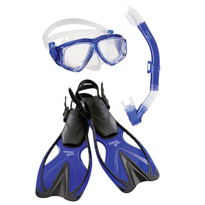 Speedo Jr. Adventure Mask/Snorkel/Fin Set Youth
