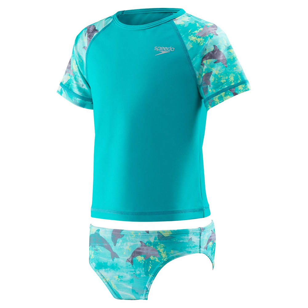 Speedo Printed Rashguard 2pc Girls '