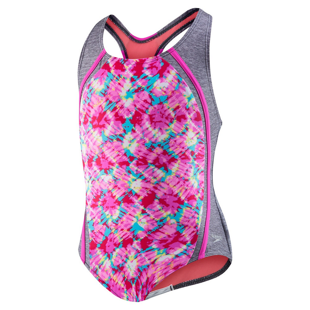 Speedo Tie Dye Sky Sport Splice Swimsuit Girls '