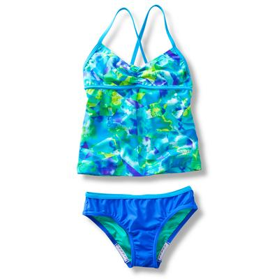 Speedo Tie Dye Sky Strappy Two Piece Swimsuit Girl's