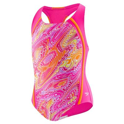 Speedo Printed Sport Splice One Piece Girls'