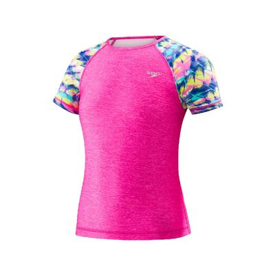 Speedo Printed Sleeve Rashguard Girls'