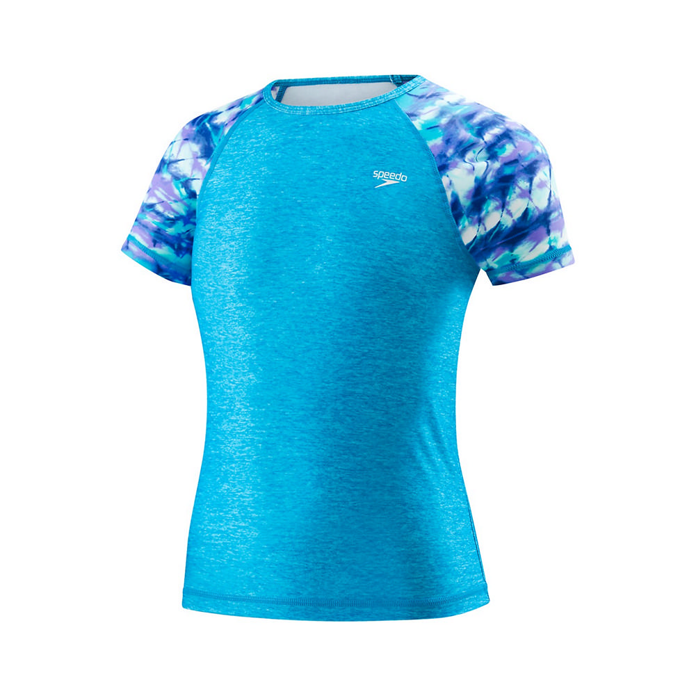 Speedo Printed Sleeve Rashguard Girls '