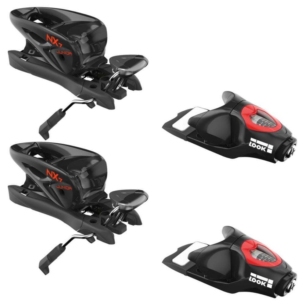 Look Nx 7 Ski Bindings - 73 Mm Brakes - Black/Icon - Kids '