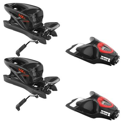 Look NX 7 Ski Bindings - 73 mm Brakes - Black/Icon - Kids'