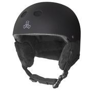 Triple 8 Snow Audio Helmet Men's BLACK RUBBER