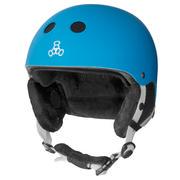 Triple 8 Snow Audio Helmet Men's BLUE RUBBER