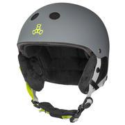 Triple 8 Snow Audio Helmet Men's CARBON RUBBER