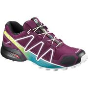 Salomon Speedcross 4 Trail Running Shoes Women's DARK PURPLE/WHITE/DEEP LAKE