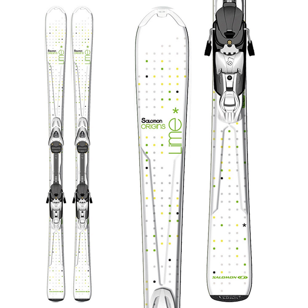 Salomon Origins Lime Skis with L9 Bindings Women's