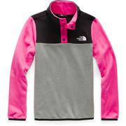 The North Face Glacier 1/4 Snap Fleece Girls' MR PINK