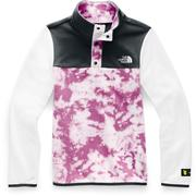 The North Face Glacier 1/4 Snap Fleece Girls' WISTERIA PURPLE BIG FOOT TIE DYE PRINT