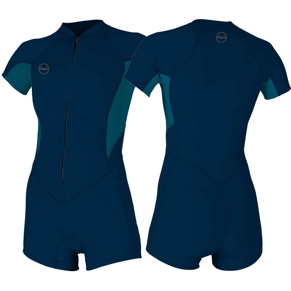 Oneill Bahia 2/1mm Full Zip Short- Sleeve Spring Wetsuit Women's