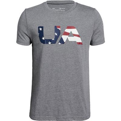 Under Armour Freedom Big Flag Logo Crew T-Shirt Boys'