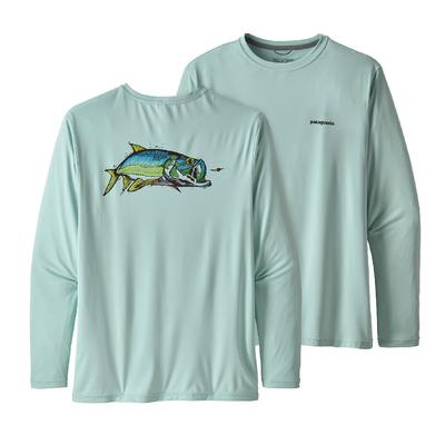 Patagonia Long Sleeve Capilene Cool Daily Fish Graphic Shirt Men's