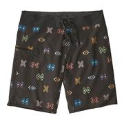 Patagonia Stretch Planing Boardshorts 19 Inch Men's SPACE SPIRITS SMALL: INK BLACK