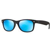 Ray Ban New Wayfarer Sunglasses BLACK/BLUE FLASH