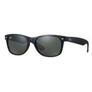 Ray Ban New Wayfarer Sunglasses BLACK/GREEN CLASSIC G-15