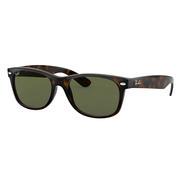 Ray Ban New Wayfarer Sunglasses TORTOISE/GREEN CLASSIC G-15