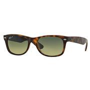 Ray Ban New Wayfarer Sunglasses TORTOISE/BLUE-GREEN GRADIENT