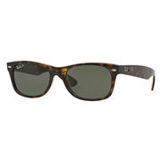 Ray Ban New Wayfarer Sunglasses TORTOISE/GREEN CLASSIC G-15 POLARIZED