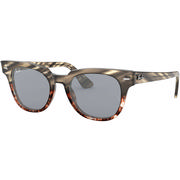 Ray Ban Meteor Sunglasses GREY GRADIENT BROWN STRIPED/BLUE MIR GOLD BLUE