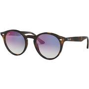 Ray Ban 0RB2180 Round Sunglasses HAVANA/GRADIENT BLUE MIRROR RED