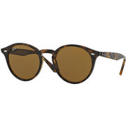 Ray Ban 0RB2180 Round Sunglasses SHINY DARK HAVANA/POLAR BROWN