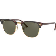 Ray Ban Clubmaster Classic Sunglasses RED HAVANA/CRYSTAL GREEN POLARIZED