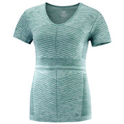 Salomon Elevate Move'On Short Sleeve Tee Women's BALSAM GREEN/CANTON