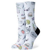 Stance Shopping List Crew Socks Women's WHITE