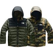 The North Face Reversible Perrito Jacket Boys' NEW TAUPE GREEN/TNF BLACK