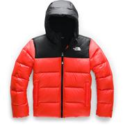 The North Face Moondoggy 2.0 Down Hooded Jacket Boys' FIERY RED