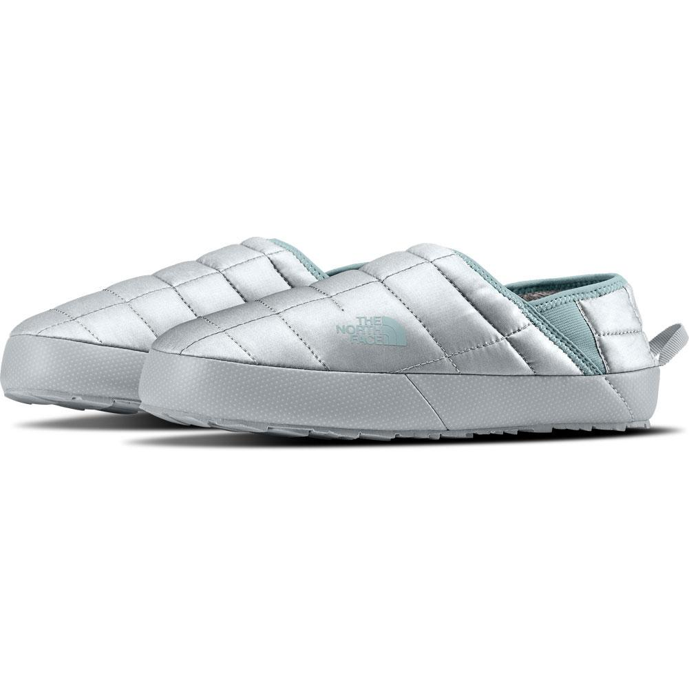 north face slippers grey