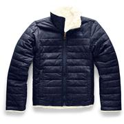 The North Face Reversible Mossbud Swirl Jacket Girls' MONTAGUE BLUE DENIM PRINT