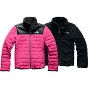 The North Face Reversible Mossbud Swirl Jacket Girls' MR PINK